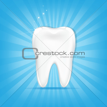 Tooth With Sunburst