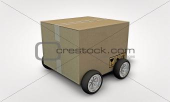 cardboard on whells