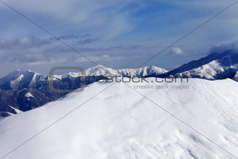 Ski slope for freeride