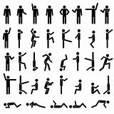 People in different poses Icon.