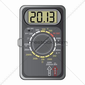 2013 New Year Multimeter , vector.