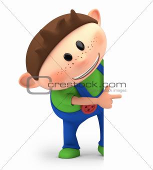 boy pointing