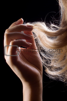 Hand and hair