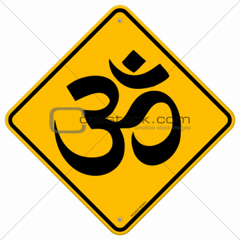 Om Yellow Sign
