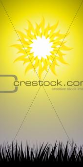 The Sun background