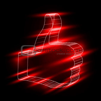 "abstract symbol of ""like"" in style 3D"