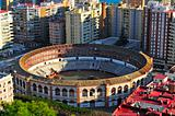 La Malagueta Bullring in Malaga, Spain