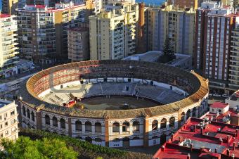 La Malagueta Bullring in Malaga, Spain
