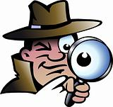 Hand-drawn Vector illustration of an Inspector Detective 