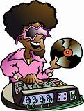 Hand-drawn Vector illustration of an Disco DJ
