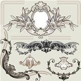 Set Of Classic Floral Decoration Elements