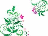 Decorative flower background