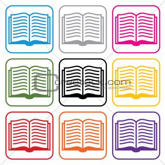 vector book symbols
