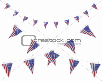 stars and stripes bunting and pennants
