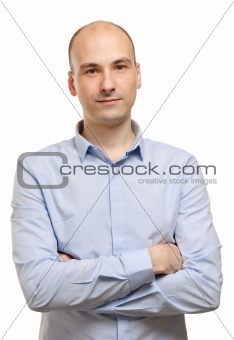 Portrait of smiling man, isolated on white