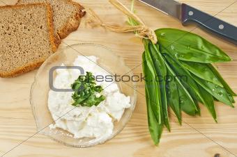 wild garlic and gourd