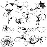 Set Of Decorative Floral Design Elements