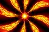 Bright fiery Star