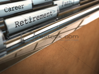 retirement folder, end of career
