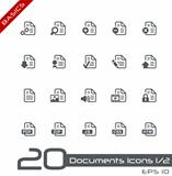 Documents Icons - Set 1 of 2 // Basics