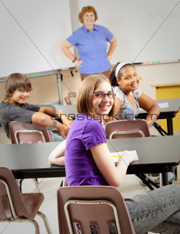 School Kids in Class