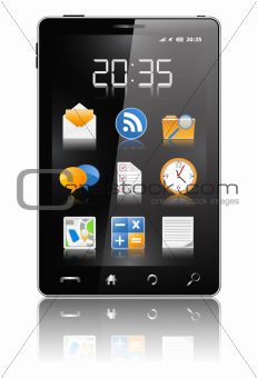 Black Modern Mobile Phone