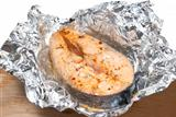 fish in foil