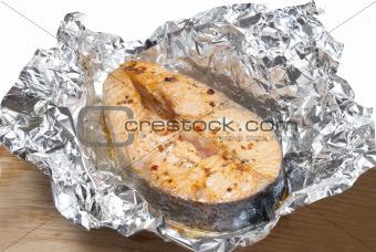 fish in foil