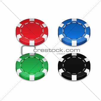 Isolated Casino Chip