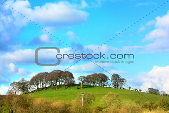 Beautiful Scottish landscape with hills and trees