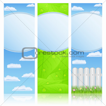 Vertical summer banners
