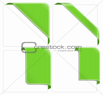 Green corner ribbons