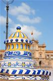 Detail of Plaza De Espana in Seville