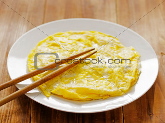 fried egg omelette