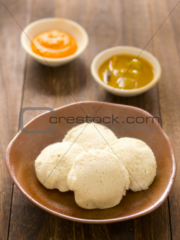 indian idli breakfast