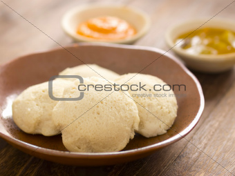 traditional indian idli breakfast