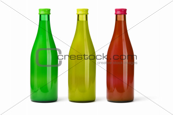 Three Bottles of Fruit Juices