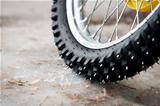 Tyre of motocross bike