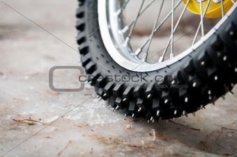 Tyre of motocross bike