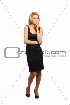 Woman looks appreciatively