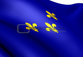 Flag of Isle de France, France.