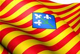 Flag of Lleida Province, Spain.