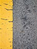 Broken yellow line on The road