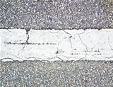 Broken White line on The road