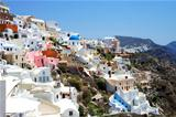 Amazing small white houses of Santorini