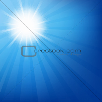 Sky With Sunburst