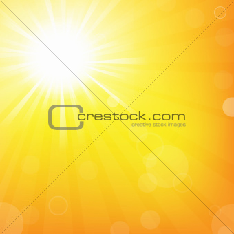 Sun With Sunburst