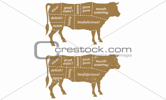 Barbecue Cow Chart