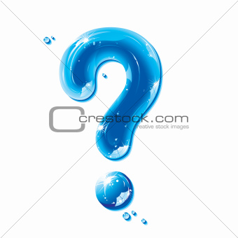 ABC series - Water Liquid Punctuation Marks - Question Mark