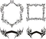 Decorative frames and ribbons